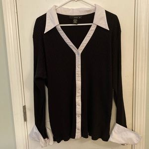 Vintage Venezia sweater with collar and cuffs